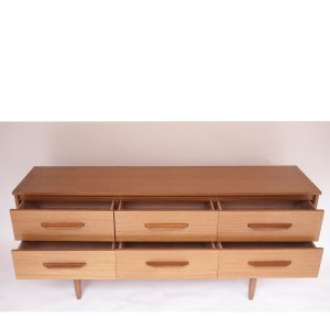 Enfilade commode 6 tiroirs scandinave vintage