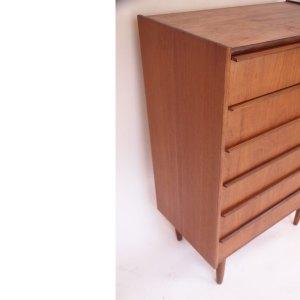 Commode scandinave vintage danois 6 tiroirs