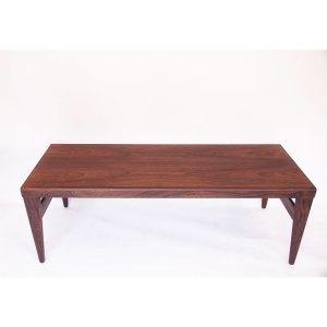 Grande table basse scandinave danoise vintage Palissandre de Rio, 2 extensions