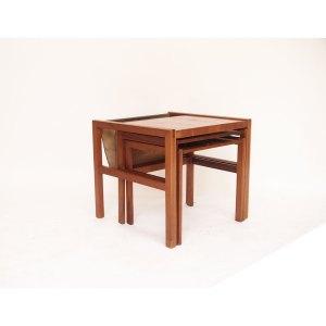 Tables gigognes porte revues vintage scandinave #34