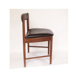 4 chaises vintage scandinave noir #684
