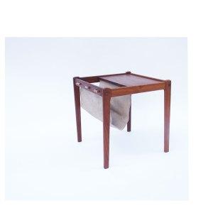 Porte revues table basse d'appoint scandinave vintage