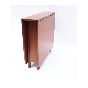 Table console pliante vintage scandinave, 2 abattants #315