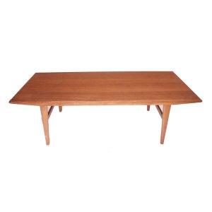 Grande table basse ou banc de lit scandinave danois vintage