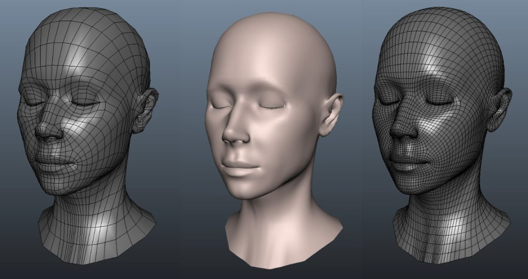 3d model face by Ruslan Vasylev