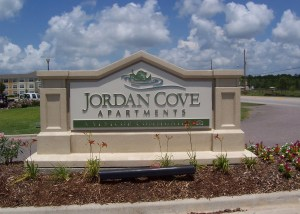 jordan cove apartments monument & ground signs