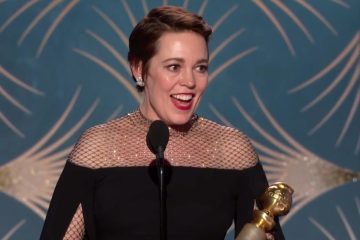 Olivia Colman wins for The Favourite at the Golden Globes