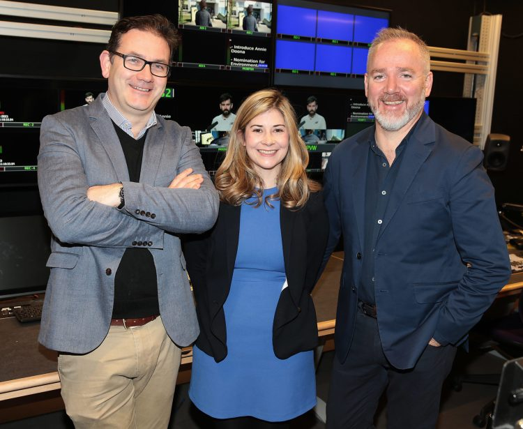 Rónán Ó Muirthile, Head of the Dept of Film & Media (The National Film School), Sarah Ahern, Warner Bros. Creative Talent Scholar 2018/19 and Nick Costello Senior Publicity & Marketing Manager Warner Bros. Pictures, Ireland