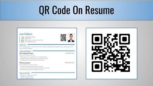 Resume Qr Code Generator