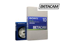Betacam tape transfer
