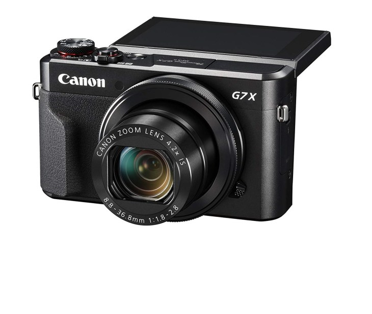 #3. Canon PowerShot G7 X Mark II – Best Youtube Vlog Camera with Wifi