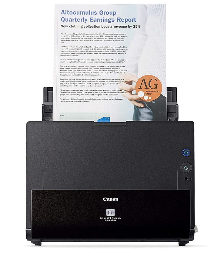 Canon ImageFORMULA DR C225 II- Good high-speed scanner automatic document feeder