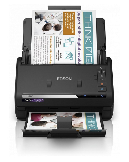 Epson FastFoto FF 680W - top high speed document scanning