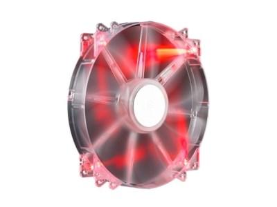 Coolermaster 20cm Megaflow Red LED Case Fan - 3/4 Pin Connector
