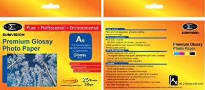 Scanstation Glossy Photo Paper 230gsm A6 25 Pack