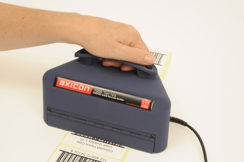 the axicon 7015 barcode verifier is ideal for logistics applications