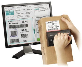 The LVS-9570 Barcode Verifier is ideal for grading logistics and shipping barcodes