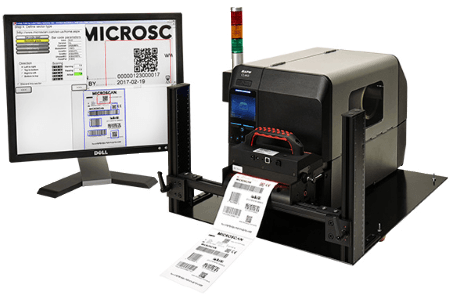 LVS 7500 label inspection system with full barcode verification to ISO standards