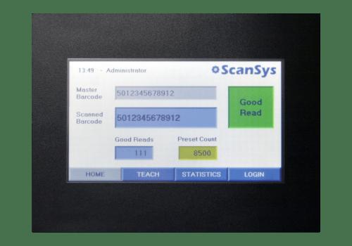 QV200 barcode validation system.