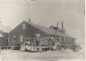 Burnham and Morrill Clam Plant, Scarborough, ca. 1885