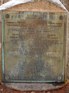 King Burial Ground Plaque