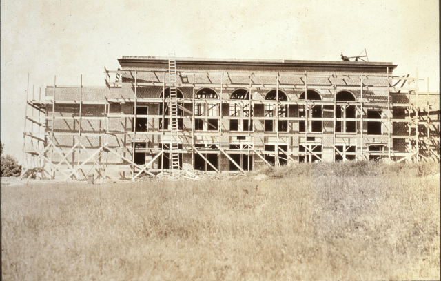 Bessey School under construction, ca. 1926