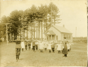 Phys ed, North Scarborough School, ca. 1900
