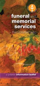 Unitarians Funeral Leaflet