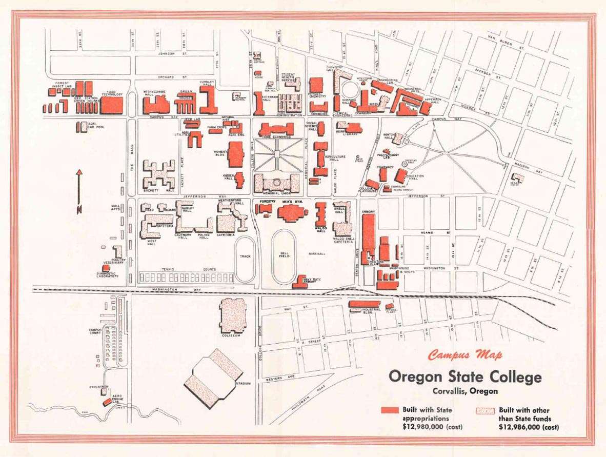 Oregon State University Building Map