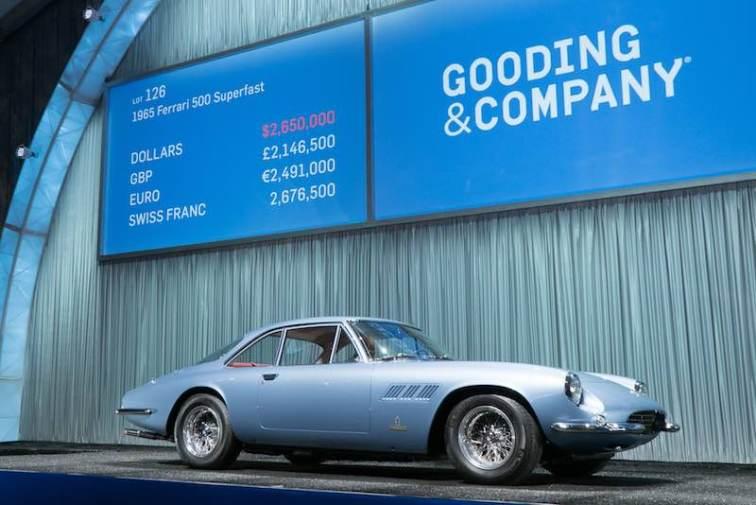 1965 Ferrari 500 Superfast sold for $2,915,000 (photo: Jensen Sutta)