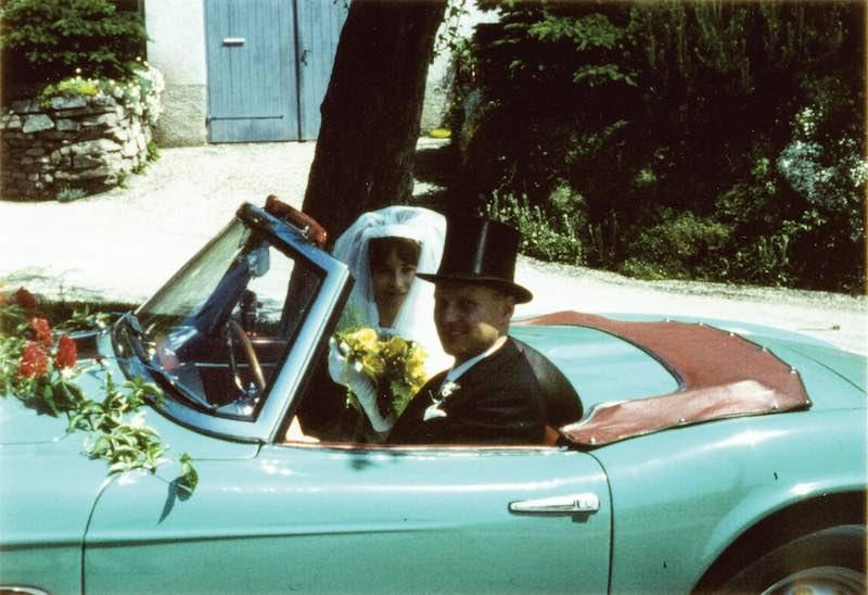 Herman Beliharz as seen in his 507 on his wedding day.