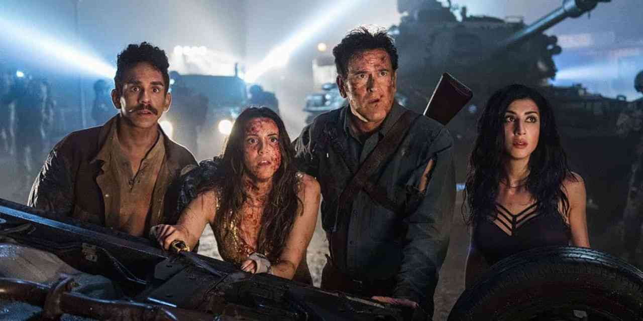 Ash-vs-Evil-Dead-Season-3-Ray-Santiago-Arielle-Carver-ONeill-Bruce-Campbell-and-Dana-DeLorenzo-photo-STARZ