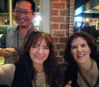 With Evil nuns Marsha Berger and Candy Rachor