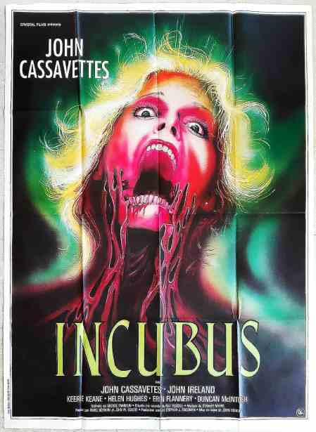 1982 THE INCUBUS John Cassavetes HORROR French 47x63 movie poster