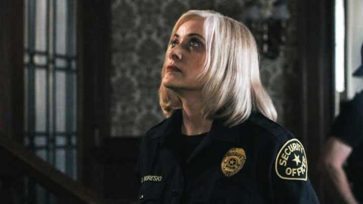Barbara Crampton as Officer Carol Doreski in Puppet Master: The Littlest Reich