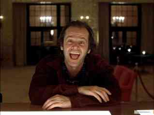 Jack Nicholson as bad dad Jack Torrance in The Shining.