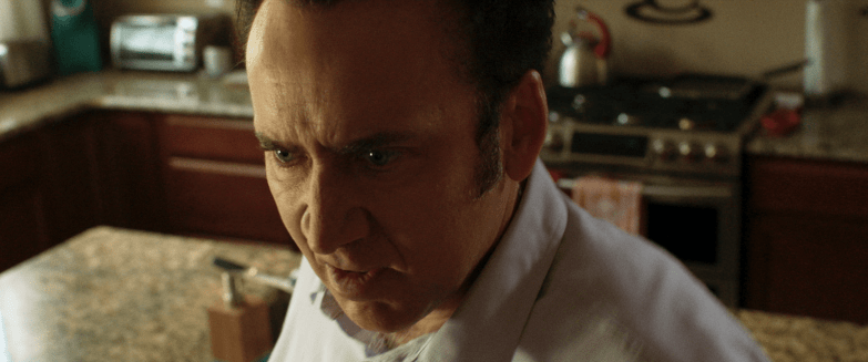 Nicolas Cage as bad dad Brent Ryan in Mom and Dad.