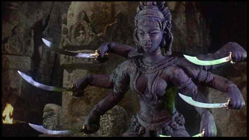 The fabulous Ray Harryhausen Statue of Kali from The Golden Voyage of Sinbad.