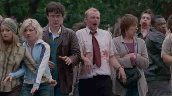 Make like a zombie in Shaun of the Dead (2004)