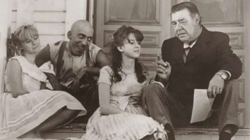 Beverly Washburn, Sid Haig, Jill Banner, and Lon Chaney in Spider Baby (196