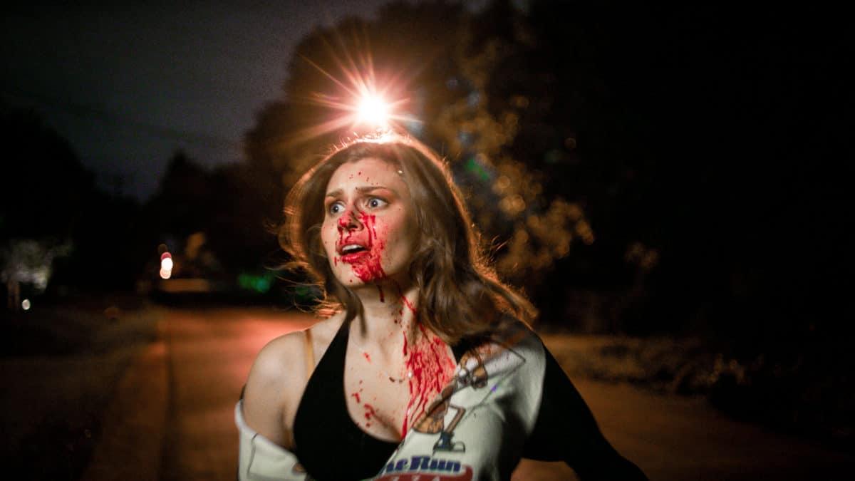 Haley Griffith is Sam in Satanic Panic (2019)