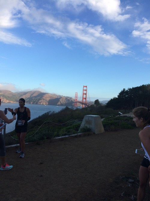 Quick view of the Golden Gate Bridge from the top of the hill.