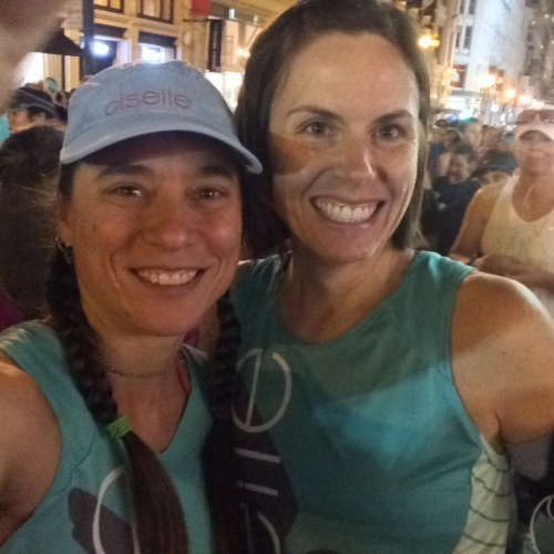 Randomly meeting a Oiselle teammate in my start corral: fantastic.