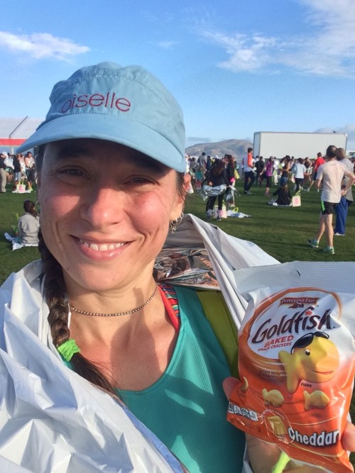 Goldfish crackers: an excellent post-race snack.