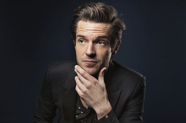 Musician and frontman of rock band The Killers, Brandon Flowers poses for a portrait, on Tuesday, March 24, 2015 in New York. (Photo by Taylor Jewell/Invision/AP)