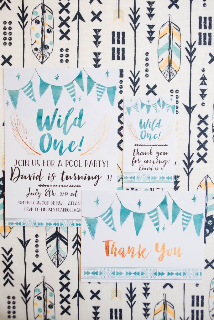Wild One stationery suite