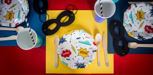 superhero party place setting