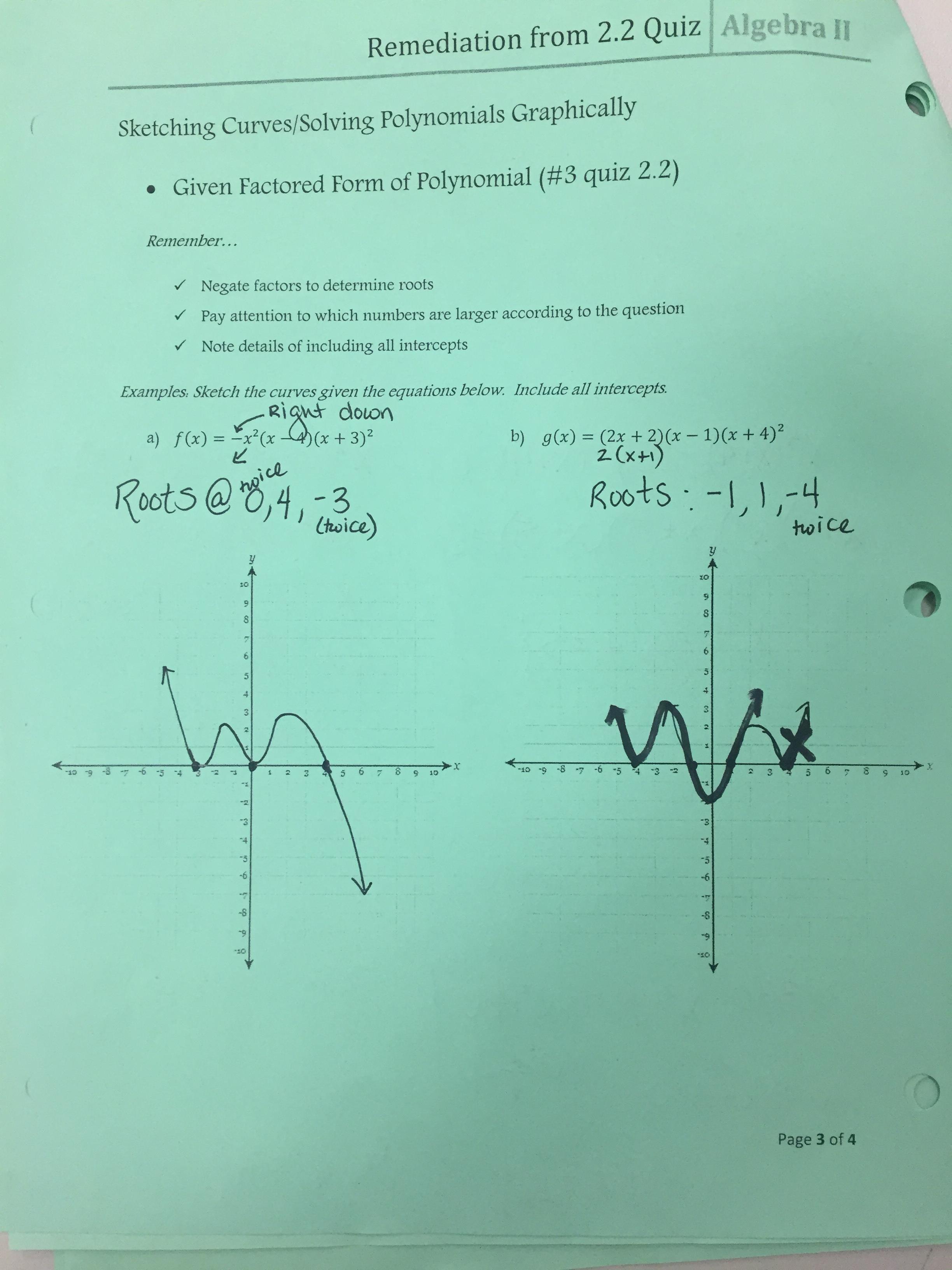 Unit 2 Quadratics