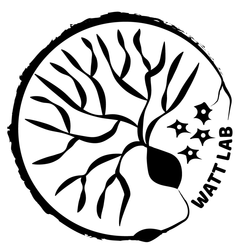 Watt lab logo of a neuron