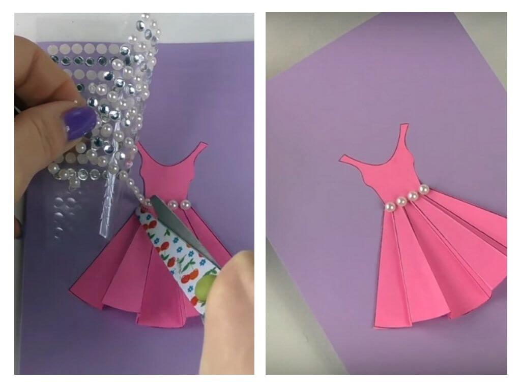 Открытках, объемные открытки платье